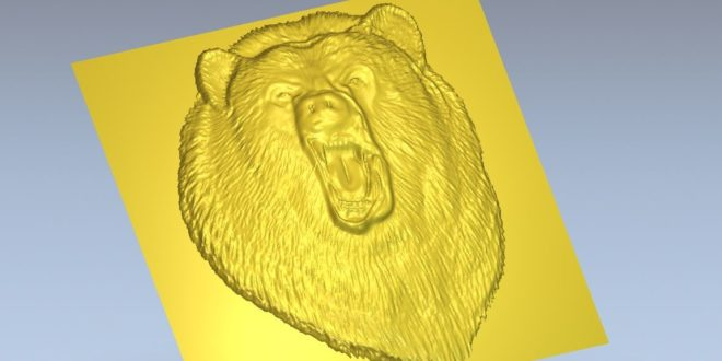 Bear Relief 3d file stl carve wood machine cnc