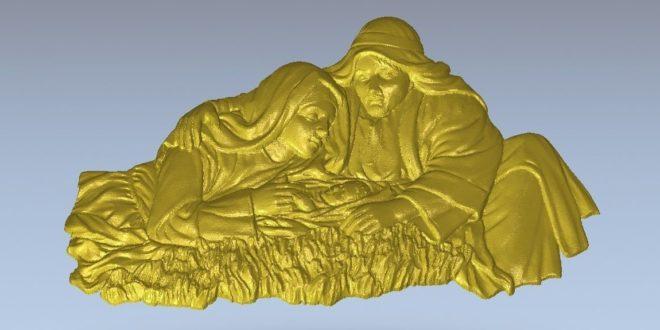 STL Relief birth of jesus – low resolution