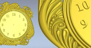 Clock STL File Download Relief for CNC Machining
