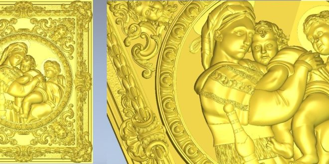 Vector 3d relief religious angels children stl file