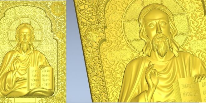 Relief of jesus christ for cnc router machining 3d stl