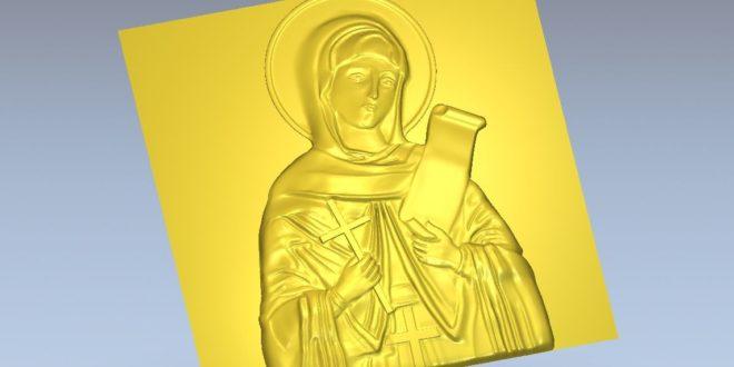 saint carving file stl file formato to cnc