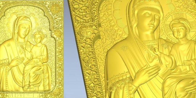 catholic icon for CNC Router Artcam Cut3D Aspire 1044