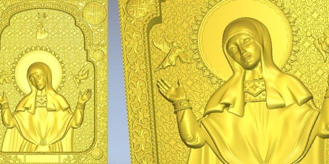 Catholic icon for CNC Router Artcam Cut3D Aspire Vcarve 1046