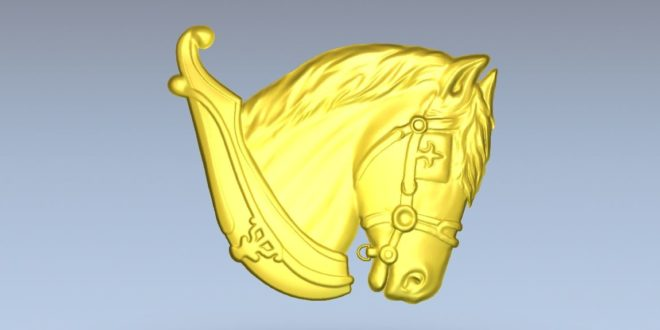 Relief stl horse head cnc router file download