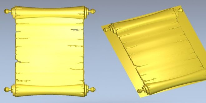 CNC Router file 3d Parchment sheepskin budge vellum paper