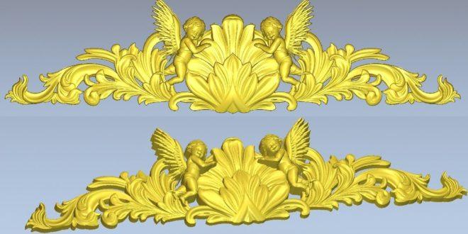 Angels ornament 3d relief artcam vcarve wood cnc