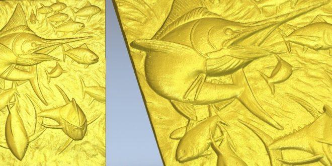 Fish carving cnc router stl model 3d