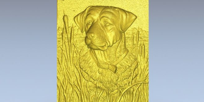 Dog panel relief for cnc router file