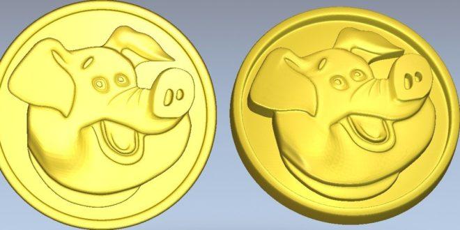 Pig model relief stl