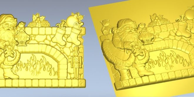 Christmas relief cnc file