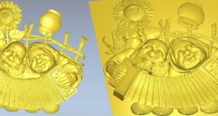Grandfather and grandmother music happy file for carving on cnc