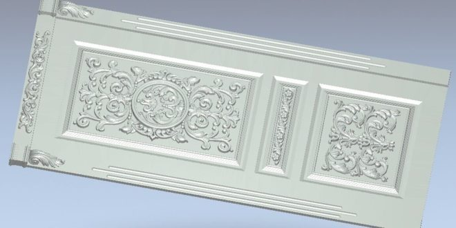 3d decorated door file to cnc