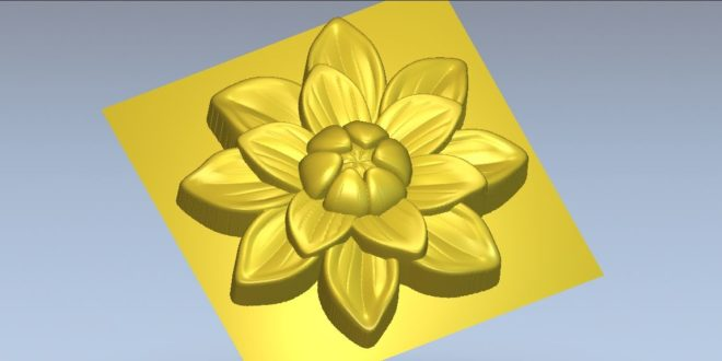 Flower decoration stl file for cnc machining