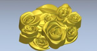 flower branch relief stl 3d