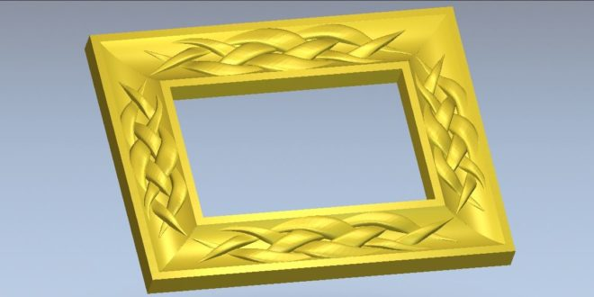 Frame with braided ornaments