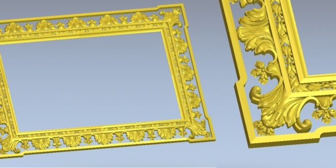 old style frame stl relief