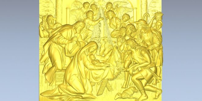 Relief for cnc the birth of jesus