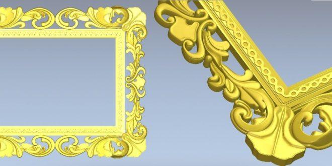 floral frame for milling artcam vectric aspire vcarve cut3d