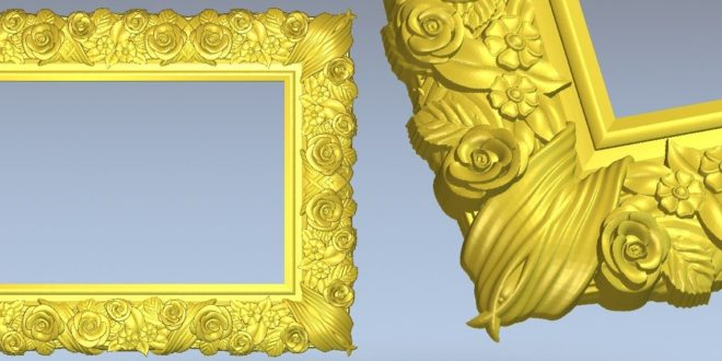 cut3d file frame vector 3d relief