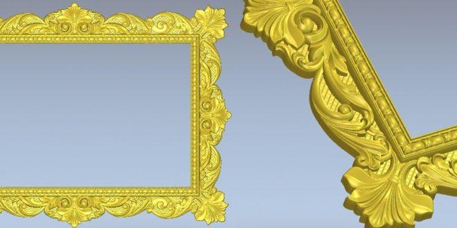 Arabic frame cnc file 3d