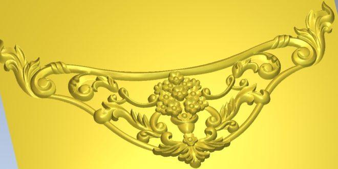 3d floral ornament file to cnc 3d printer 3d cnc router relief