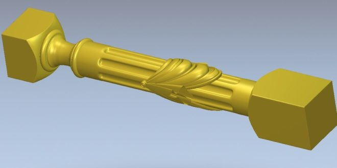 Column for 3d printing or 4 axis cnc machining