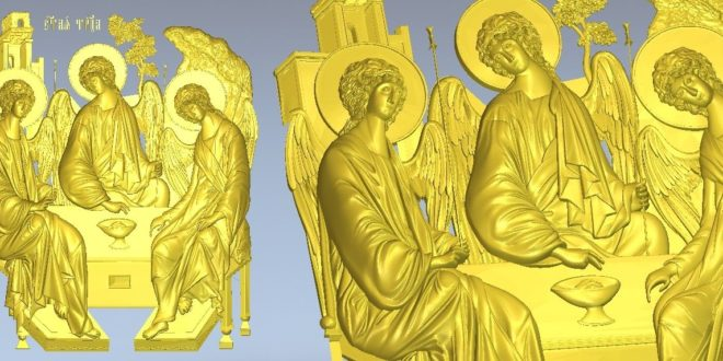 Religious relief file stl cnc 3d print