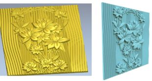 Environments decorative floral panel stl cnc router