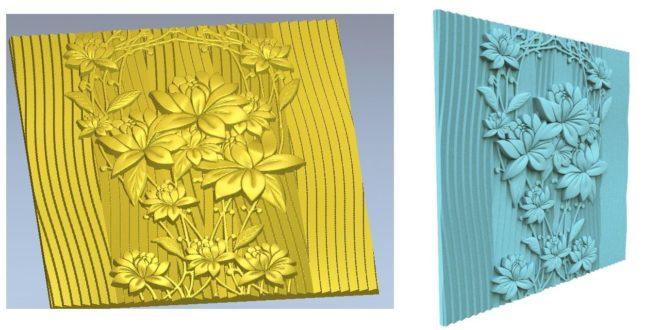 Environments decorative floral panel stl cnc router
