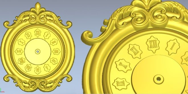 roman numerals watch clock 3d