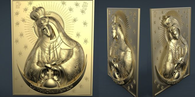 Religious file Saint 3d file for cnc router visual arts