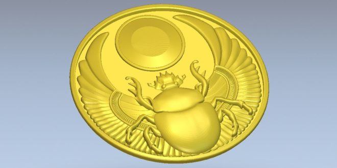coin / insect plate 3d stl file