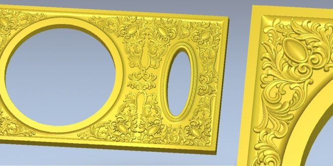 ornate frame 3d file