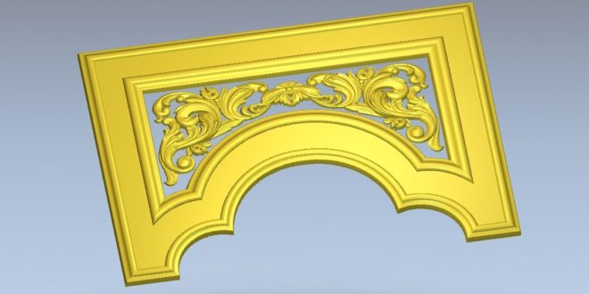 artcam file stl carve stl to door decoration ornament
