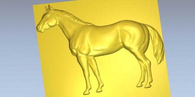 Horse 3d file stl TOP