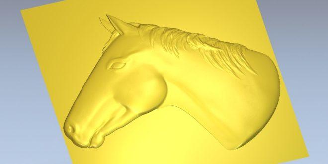 Horse relief 3d bas-relieflow relief stl