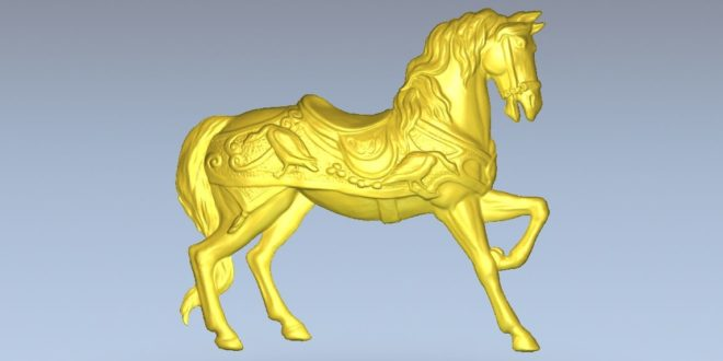 Marching horse relief file