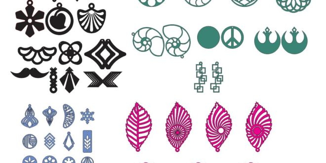 CDR file earrings and trinkets for laser cutting