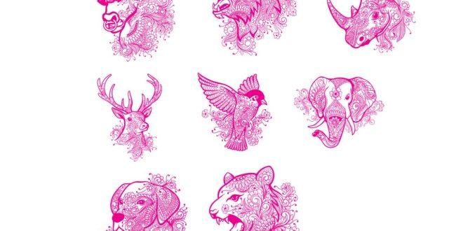 Artline laser engraving vectors animals CDR file bull bear rhino deer bird elephant dog feline