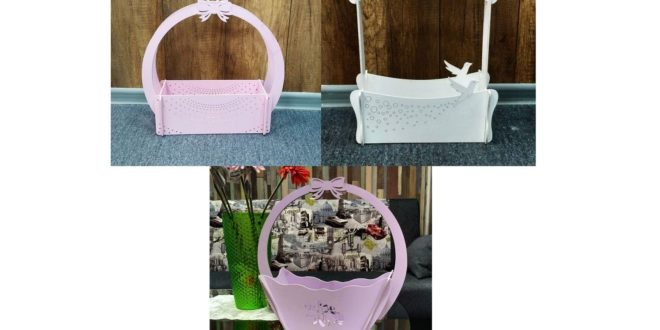 Basket hamper frail Shipping boxes dxf and cdr vectors for laser cnc cutting