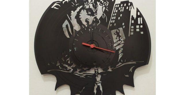 Batman clock watch dxf vector vinyl disc laser cut