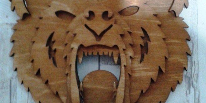 Bear head 3D wall animal cnc cut file vector