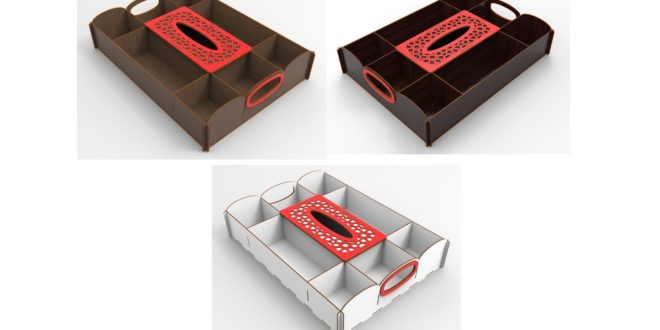 Laser Cut Vector Box with dividers 2.4mm or 3mm or 4mm versions cdr dxf
