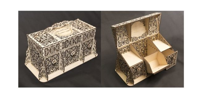box ornament to laser cut file islamic decorated