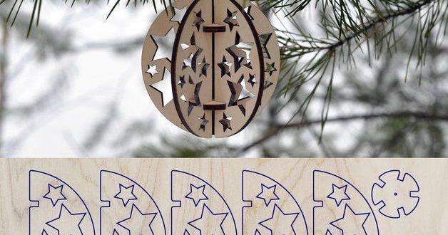 Ball Christmas tree ornament stars vector