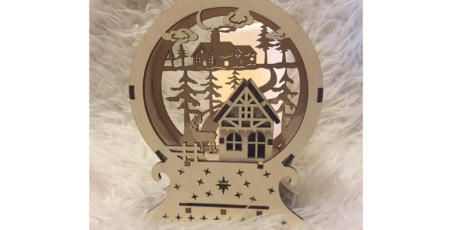 Laser cut file Christmas Lamp and New Year Decoration