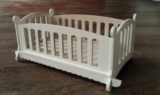 FREE Doll bed cdr dxf file laser cut