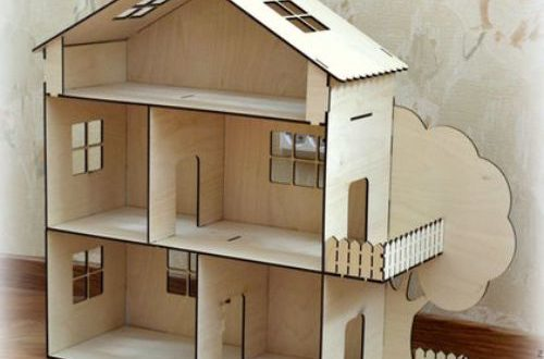Laser cut File Plan Doll house for children to play Cdr dxf vectors