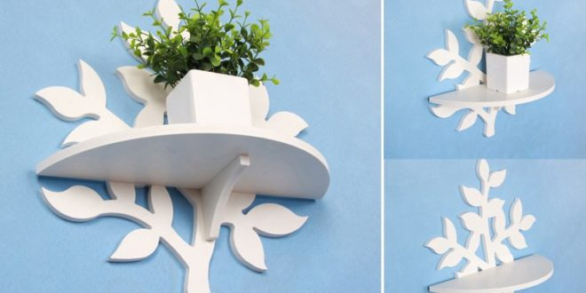 Floral shelf wall decoration cdr dxf vector to CNC